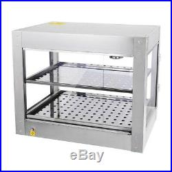 Commercial 24x19x15 Countertop 2-Tier Food Pizza Warmer Display Cabinet Case