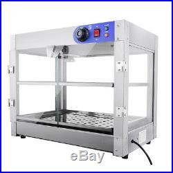 Commercial 24x19x15 inch Pizza Pastry Food Warmer Countertop Display Case