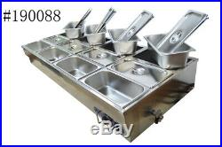 Commercial Buffet Food Warmer 6-Pots 1/2Pan High-quality Stainless for Restaurat