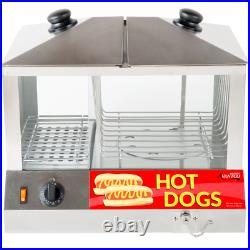 Commercial Electric Bun Hot Dog Steamer Food Warmer Cooker Countertop Machine