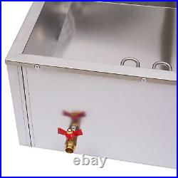 Commercial Food Warmer 6-Pan Steamer S/Steel Buffet Electric Countertop Device