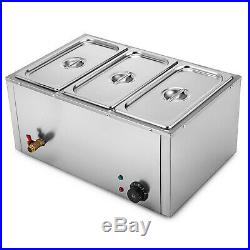 Commercial Food Warmer Bain Marie Steam Table Countertop 2-6 Pots Soup Station