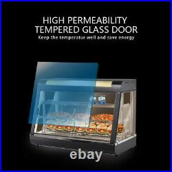 Commercial Food Warmer Court Heat Food Pizza Display Warmer Cabinet 3 Shelves