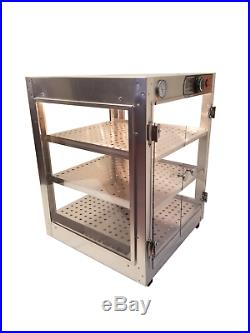 Commercial Food Warmer, HeatMax 18x18x24 Pizza Pastry Concession Display Case