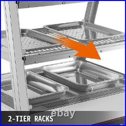 Commercial Food Warmer Pizza Warmer 27-Inch Pastry Warmer with Tilt-Up Doors