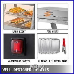 Commercial Food Warmer Pizza Warmer 48-Inch Pastry Warmer with Tilt-Up Doors