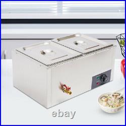 Commercial Gas Fryer Food Warmer Buffet Countertop Steam Table Steamer