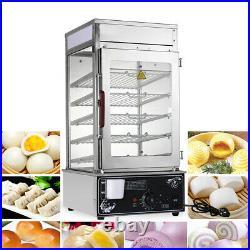 Commercial buns Steamer Warmer Cooker Machine Bun Food Electric Countertop 1800W