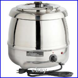 Countertop Food Soup Chili Nacho Cheese Stew Kettle Warmer 11 Qt Stainless Steel