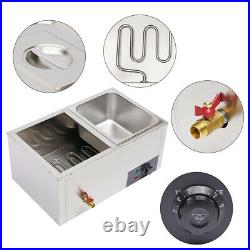 Countertop Food Warmer Stainless 2-Pan Bain-Marie Steamer Steam Table for Buffet