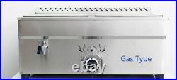 Desktop LPG Gas 4-Pan 1/2-Pan Propane Bain-Marie Buffet Steam Table Food Warmer