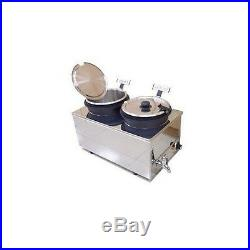 Dual Food or Soup Stainless Steel Warmer Heater