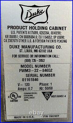 Duke Fwm3-22-84652 Heated Product Holding Unit (food Warmer)