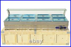 Electric Countertop 8-Well Food Warmer Bain-Marie Buffet Steam Table 110V 2200W