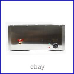 Electric Food Warmer 2-Pan Steamer Bain-Marie Buffet Countertop Steam Table 110V