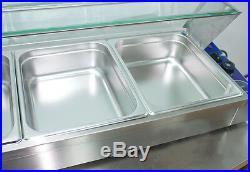 Food Insulation Equipment6-Well Commercial Bain-Marie Buffet Food Warmer 190223