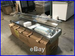 Food Warmer 8 Pan Hot Display Case Showcase Glass Counter top Cooler Depot USA