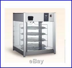 Food Warmer Pizza Commercial Countertop 4-Tier Display Cabinet Case Counter top