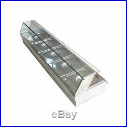 Food Warmer Steam Table 110V 1500W Buffet Countertop 5-Pan Steamer Bain-Marie