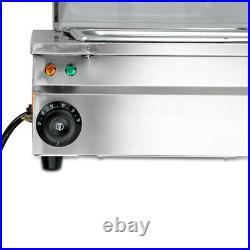 Food Warmer Steam Table Buffet Countertop 110V 1700W 12-Pan Steamer Bain-Marie