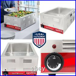 Full Size Electric Countertop Buffet Kitchen Food Warmer 120V 1200W Durable New