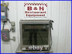 Hatco GRCMW-1DH Curved Countertop Display Case Warmer Hot Food Merchandiser