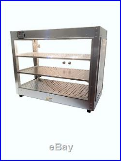 HeatMax 301524 Commercial Food Warmer Display, Pizza, Pastries, Patty, Hot Food
