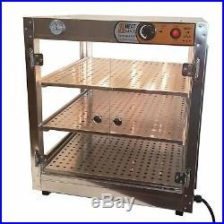 HeatMax Commercial Countertop Food Warmer Display Case With Water Tray 20x20x24