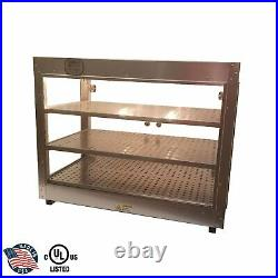 HeatMax Commercial Countertop Food Warmer Display Case With Water Tray 30x18x24