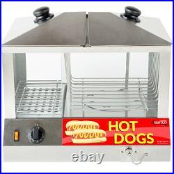 Hot Dog Steamer Commercial Warmer Cooker Machine Bun Food Electric Countertop