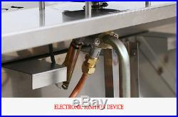 Intbuying! 2-Pan LP Gas Bain-Marie Buffet Food Warmer Steam Table 23'