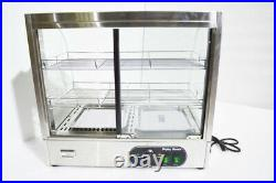 Intbuying 26 inch Three-layer Electric Egg Tart Food Display Warmer Machine 110V