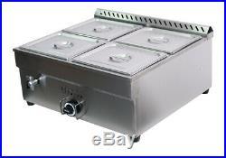 LPG Gas 4-POT Food Warmer Food Heating For Half Size 10.5 x 13 x4Pan New