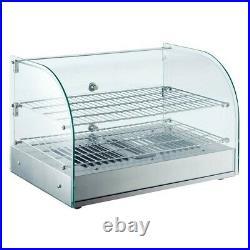 Marchia HCA45 22 Curved Glass Countertop Hot Food Display Warmer