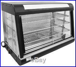 NEW 36 Hot Food Warmer Glass Display Case 3 Tier UNIWORLD UDW-2 #4554 Shelf