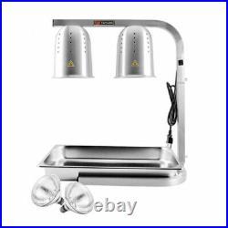 NEW Countertop Food Warmer Lamp 2 Bulb Station Seasoning Fries Fried Food 500W