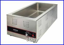 NEW Electric 4/3 Size Food Pan Warmer Countertop 1500W Winco FW-L600 #9973 ETL