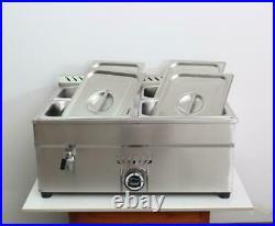 Propane Gas Bain-Marie Buffet Food Warmer Food Heating Steam Table 4-Pan Square