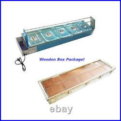 TECHTONGDA 110V 5 Pan Bain-Marie Buffet Countertop Food Warmer Stainless Steel