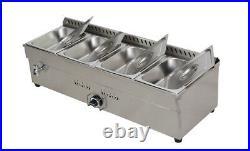 TECHTONGDA 4-Pan LP GAS Food Warmer Stainless Steel High-efficiency Performance