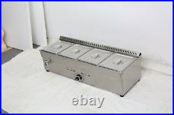 TECHTONGDA 4-Pan PROPANE Gas Food Warmer STEAM TABLE Half Size 10.5 x 13 x4