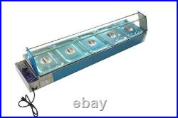 TECHTONGDA 5-Pan Bain-Marie Buffet Food Warmer 110V High Quality Stainless Steel