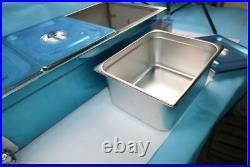 TECHTONGDA Large Capacity 3-Pan Bain-Marie Buffet Food Warmer Stainless Steel
