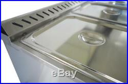 US NEW 5-Pan 56inch Natural Gas Bain-Marie Buffet Food Warmer Steam Table 190119