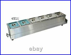 USA Food Warmer 1 PC 6-1/6 Pan Desktop Food Warmer System for Commercial 191016