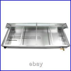 USED 12-Pan Steamer Bain-Marie 110V Food Warmer Steam Table Buffet Countertop
