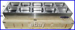 Update 10-Well Commercial Bain-Marie Buffet Food Warmer 110V 2.2KW 122175
