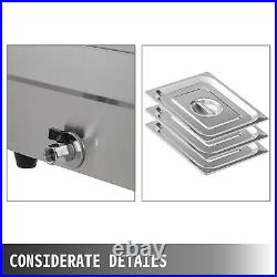 VEVOR 10-Pan Steamer Bain Marie Food Warmer Steam Table Buffet Countertop 2000W