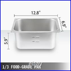 VEVOR 12-Pan Steamer Bain Marie Food Warmer Steam Table Buffet Countertop 2000W