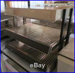 WISCO 282-24 Stainless 2 Shelf Countertop Warmer open air food merchandising